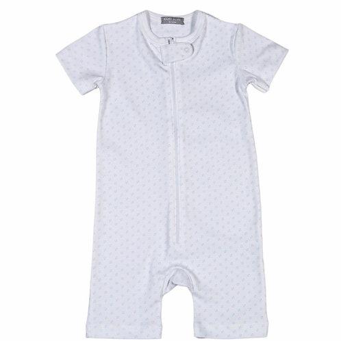 Baby Bliss Blue Dot Zipper Romper 18/24 mo