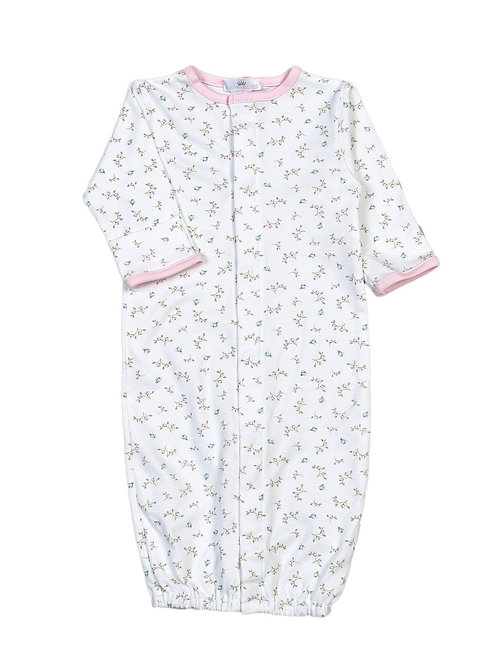 Baby Bliss Pima Pink Floral Baby Gown