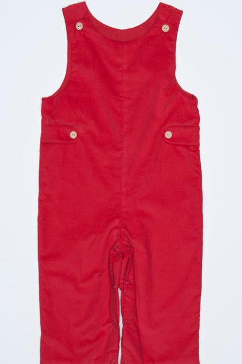 Little English Red Cord Button-Tab Longall 18 mo