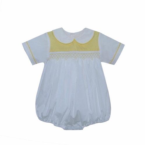 Lullaby Set Yellow Smocked Boy Bubble 9-24 mo, 3t