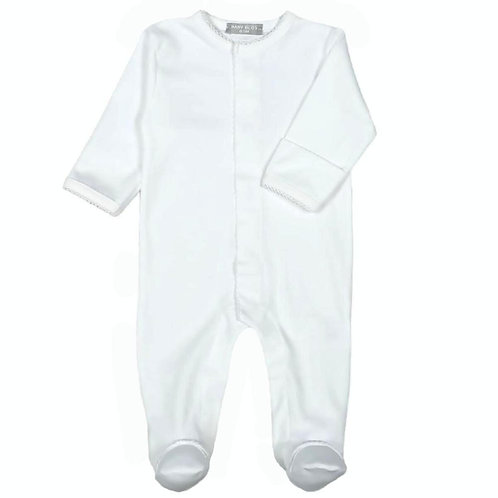 Baby Bliss Pima White Footie