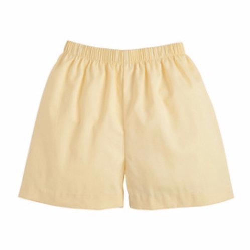 Little English Yellow Basic Shorts