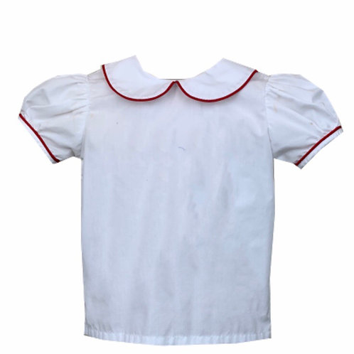 Lullaby Set Red Piper Peter Pan Blouse