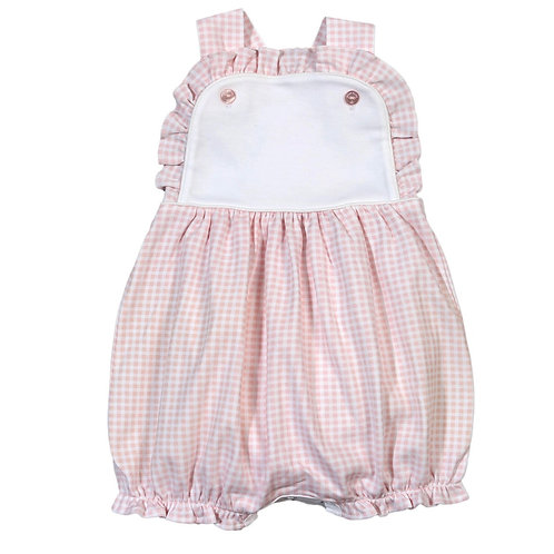 Baby Bliss Pima Pink Gingham Sun Bubble