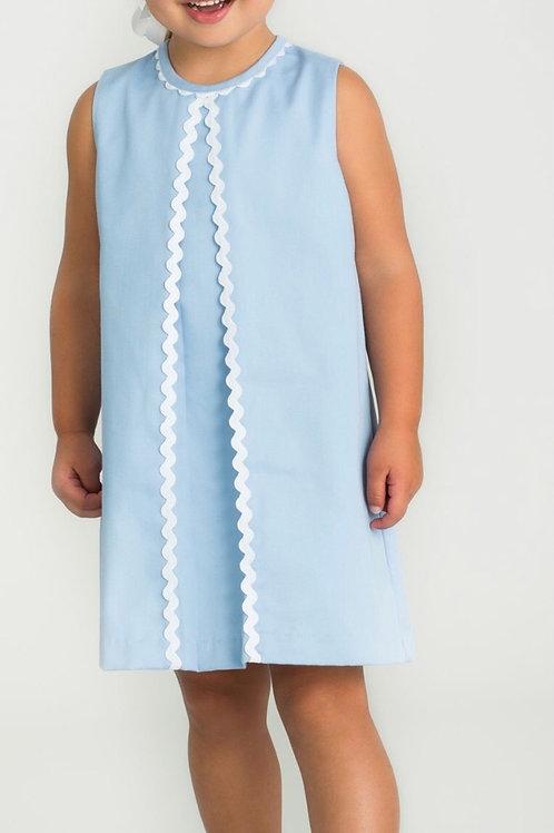 Little English Light Blue Twill Reese Dress