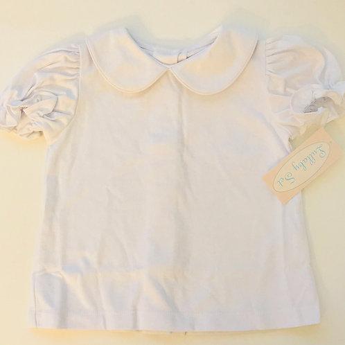Peter Pan White Knit Shirt Short-Sleeve-Girls
