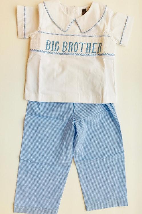 Big Brother Smocked Pant Set