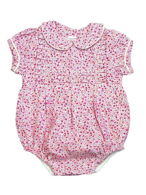 Cuclie Pink Floral Pleated Bubble