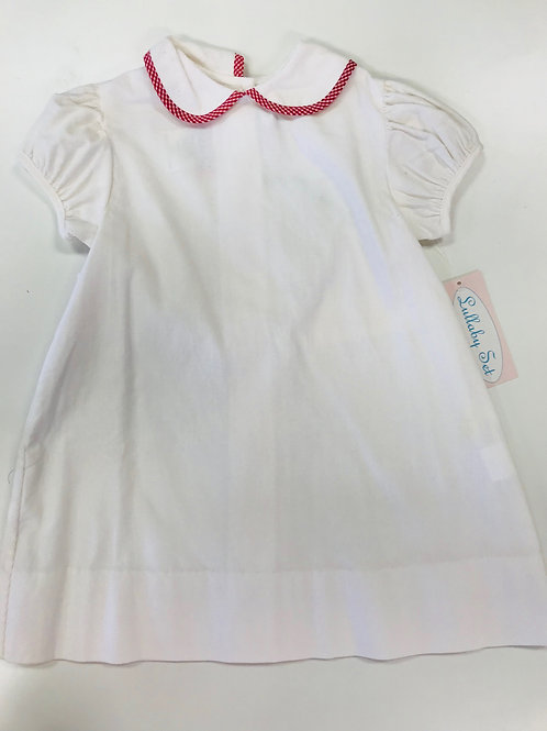 Lullaby Set Dress-cord with Gingham Trim 4t, 5