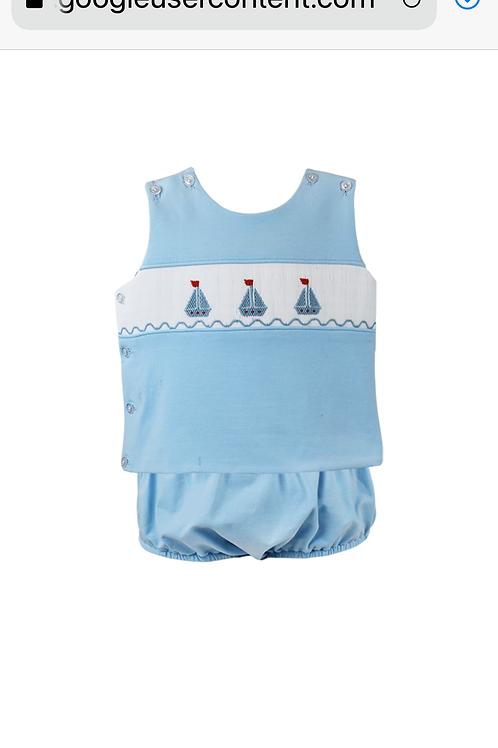 Lullaby Set Anchors Away Sailboat Diaper Set