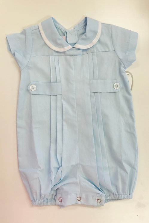 Lullaby Set Light Blue with White Welting Bubble