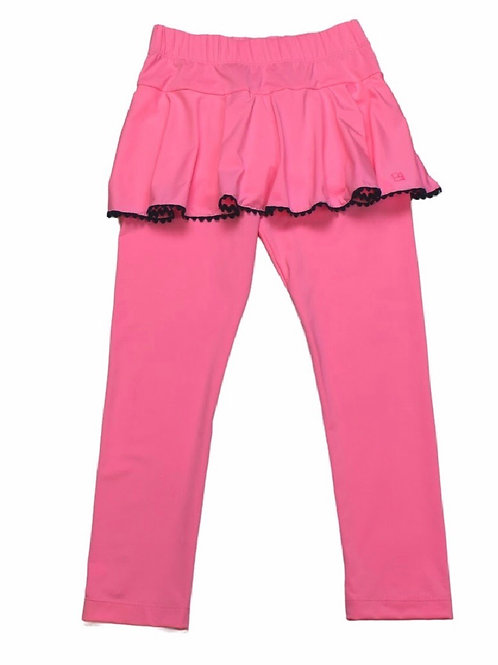 Set Athleisure Pink with Navy Quinn Skirt/Legging