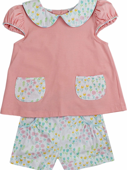 Lullaby Set Tulip Print Shorts (shirt not included)