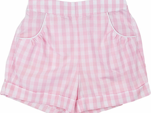Lullaby Set Pink Plaid Bailey Shorts
