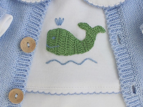 Little English Whale Pima Playsuit
