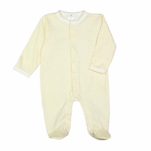 Baby Loren Pima Yellow Gingham Footie