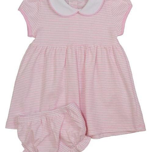 Twirly Pima Dress-Pink Stripe size 4