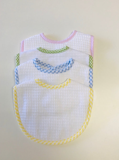 3 Martha's Medium Pique Gingham Bib
