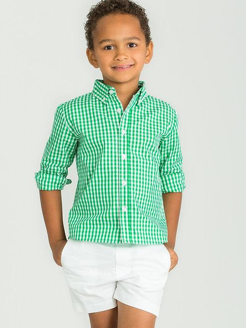 Little English Augusta Green Button-Down Shirt 4, 5, 7, 8