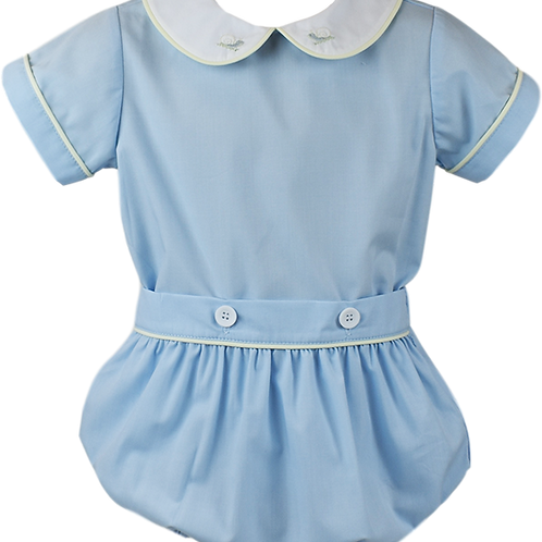 Lullaby Set Light Blue Sawyer Button-on Bubble
