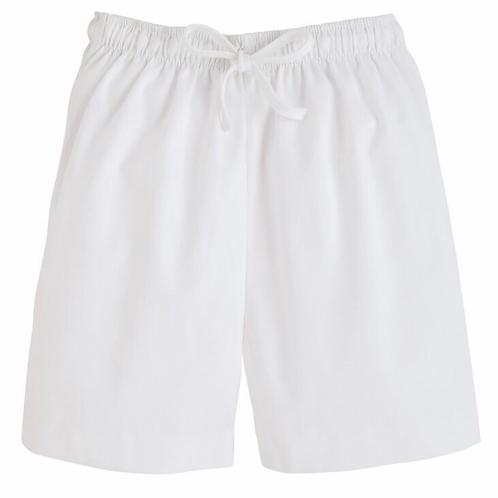 Little English White Twill Drawstring Shorts 3t