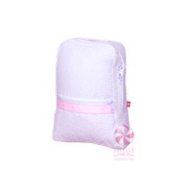 Pink Seersucker Small/Preschool Backpack by Mint