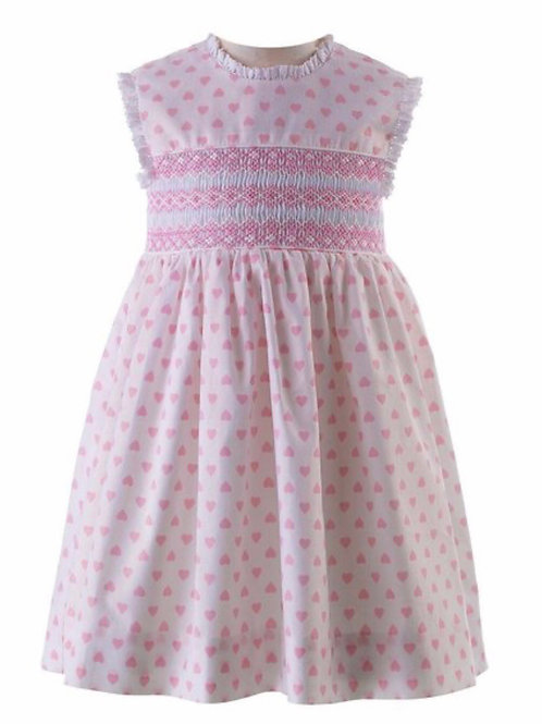 Rachel Riley Loveheart Smocked Dress and Bloomers