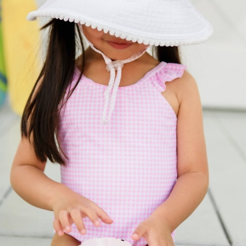 Snapper Rock Pink Gingham Swimsuit
