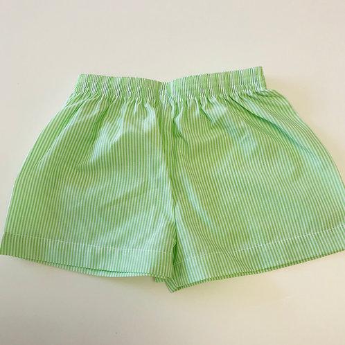 Lullaby Set Green Stripe Shorts 12, 24 mo