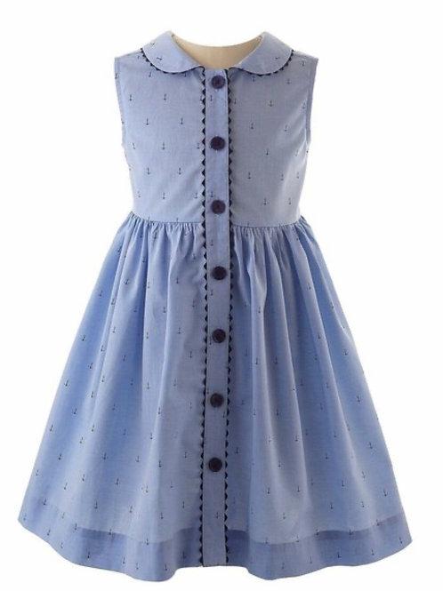 Rachel Riley Anchor Button-Front Dress