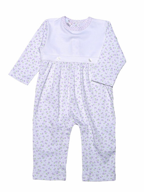 Baby Bliss Pima Lavender Floral Playsuit