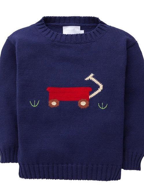Little English Wagon Sweater 12, 24 mo