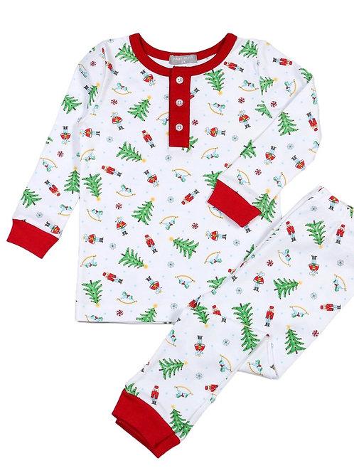 Bella Bliss Pima Nutcracket Boys Christmas Loungewear