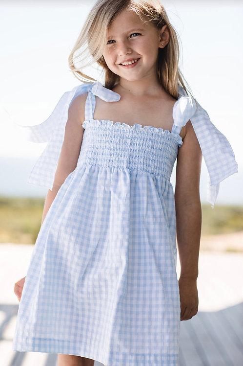 Sal & Pimenta Bluebell Gingham Bows Sundress size 7