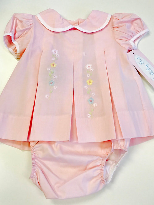 Lullaby Set Embroidered Flowers Bloomer Set 6, 9 mo