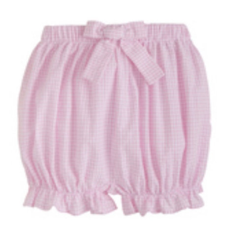 Little English Pink Gingham Bow Bloomers