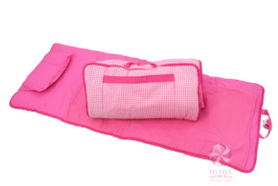 Hot Pink Gingham Napmat by Mint