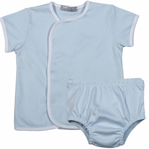 Baby Bliss Pima Light Blue Diaper Set