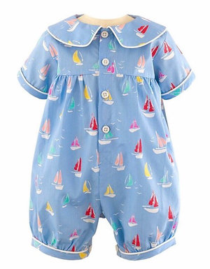 Rachel Riley Sailboat Babysuit/Romper