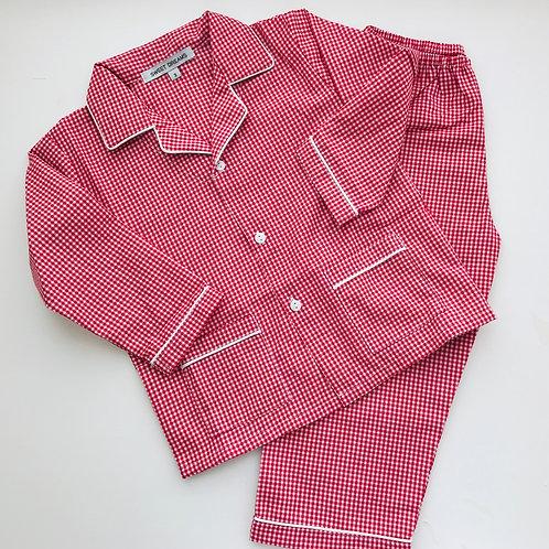 Sweet Dreams Red Gingham Pajamas