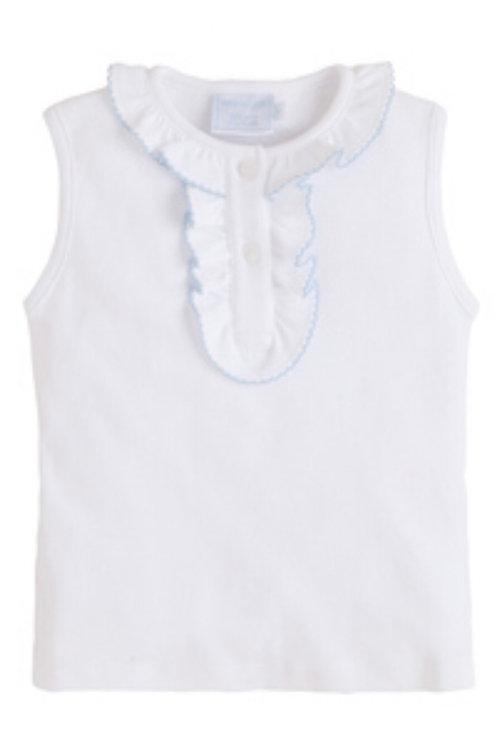 Little English Light-Blue Trimmed Henley Pima Shirt 5, 6