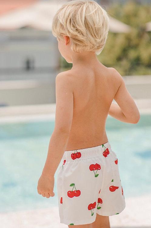 Sal & Pimenta Cherry Swim Trunks