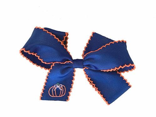 Lullaby Set Navy Pumpkin Bow
