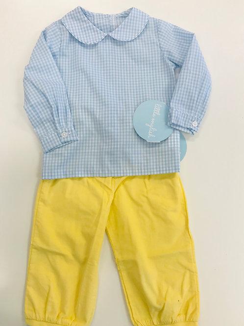 Little English Yellow Cord Banded Pants