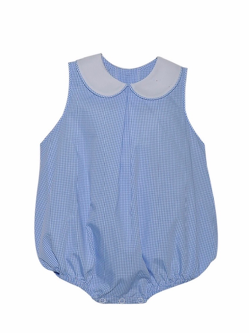 Lullaby Set Blue Gingham Peter Pan Bubble