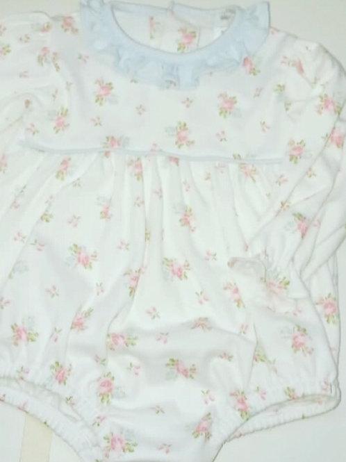 Baby Bliss Pima Tatiana Floral Ruffle Bubble