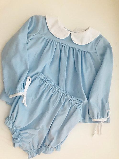 Anvy Kids Girls Bloomer Set-Light Blue