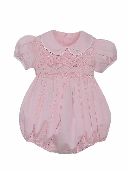 Lullaby Set Pink Smocked Kinley Bubble