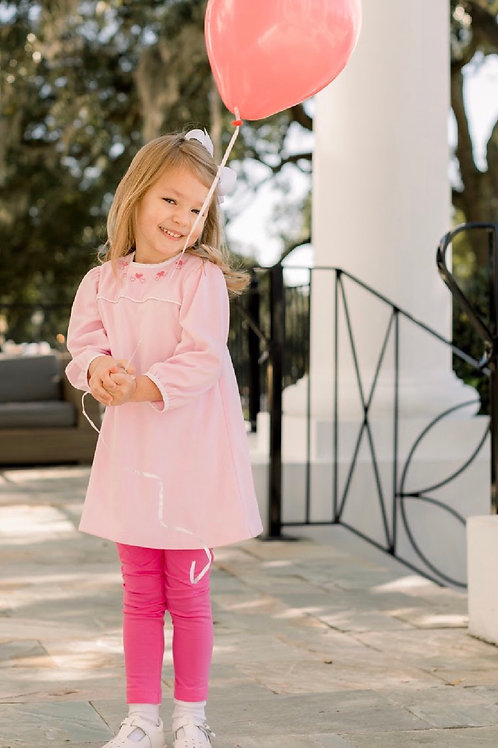 Lullaby Set Pink Embroidered Heart Legging Set size 5