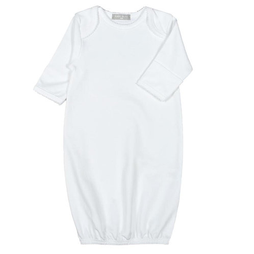 Baby Bliss Pima Gown with White Trim